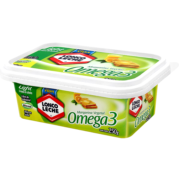 Margarina Omega 3 Loncoleche 250 g.