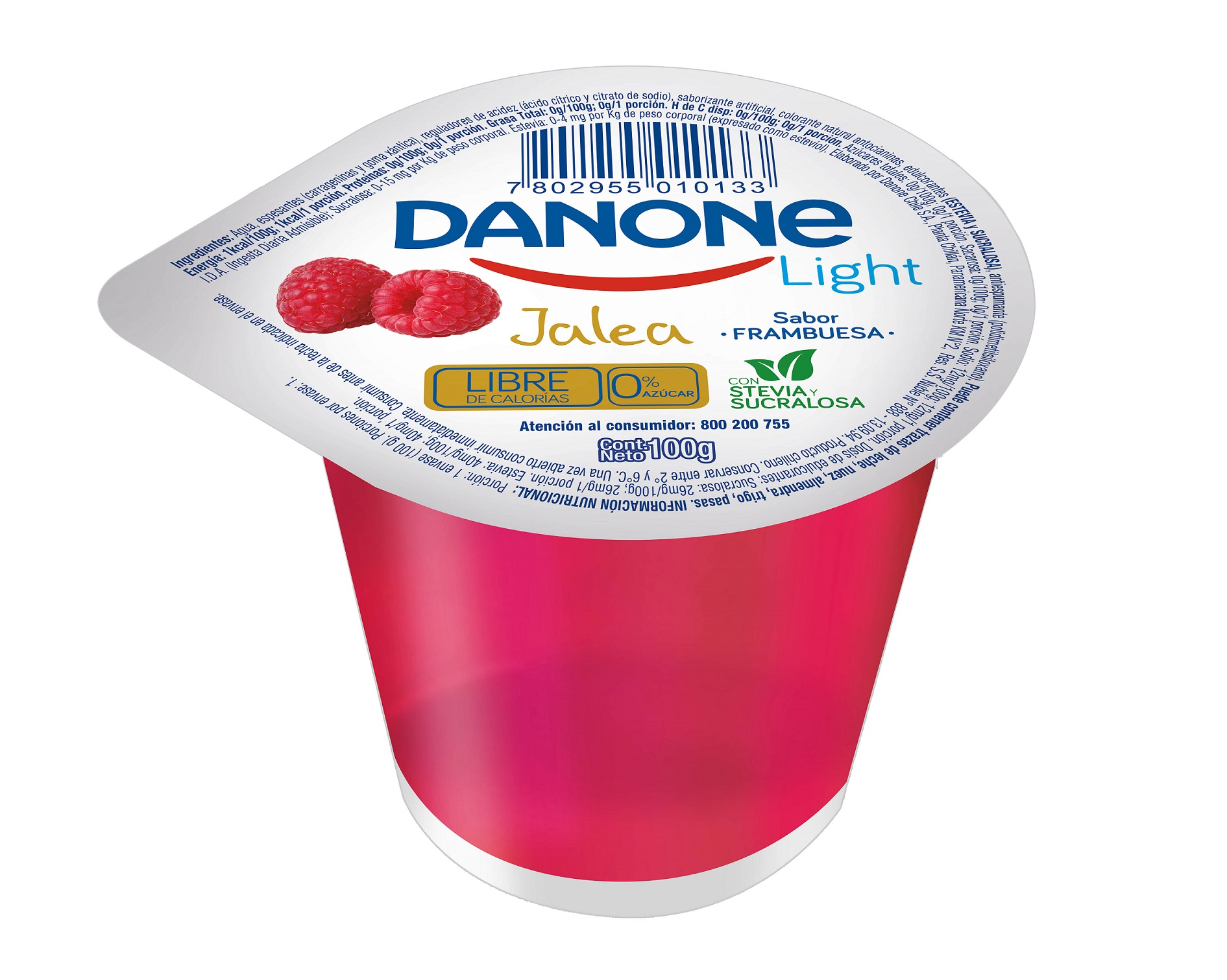 Jalea Frambuesa Danone Light 100g
