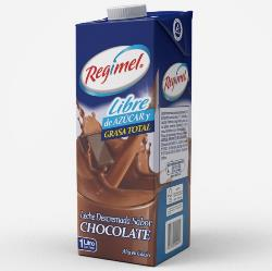 Leche Descremada  Chocolate Regimel 1 Lt.