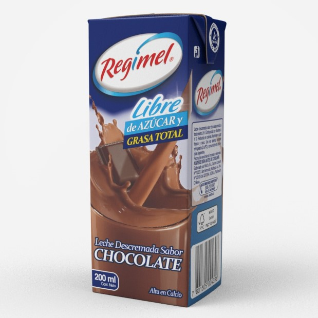 Leche Descremada Chocolate Regimel 200 ml