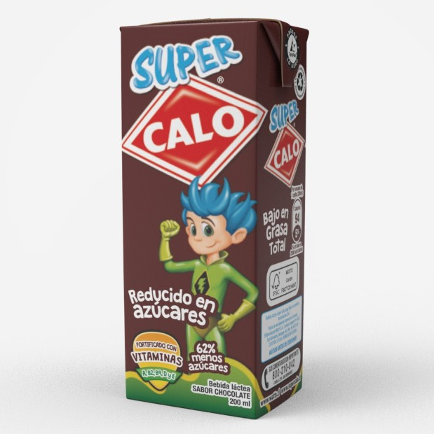 Bebida Láctea Sabor Chocolate Super Calo 200 ml