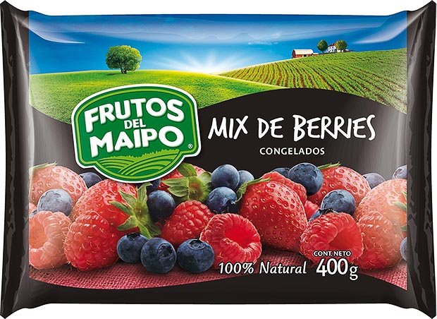 Mix de Berries Congelada Frutos del Maipo 400 g.