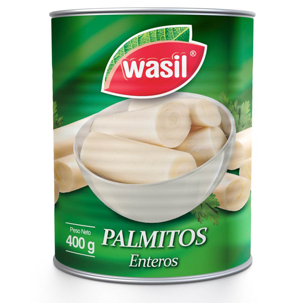 Palmitos Enteros   Wasil 400 g.