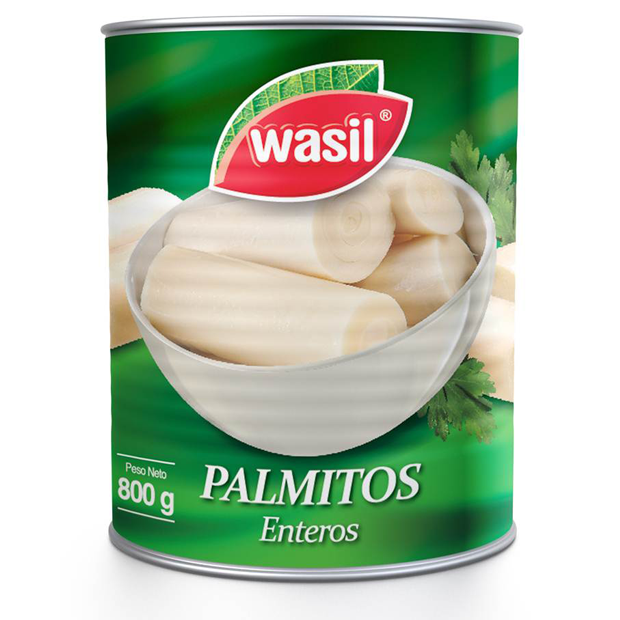 Palmitos Enteros   Wasil 800 g.