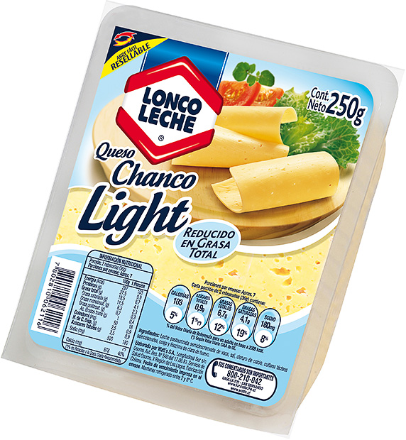 Queso Chanco Laminado   Loncoleche 250 g.