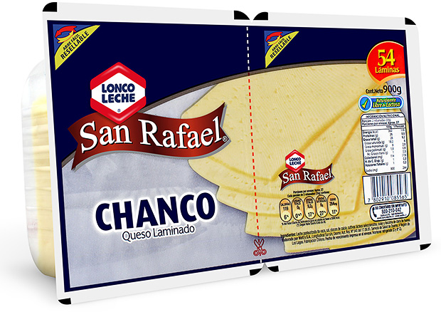 Queso Laminado Chanco San Rafael 900 g.