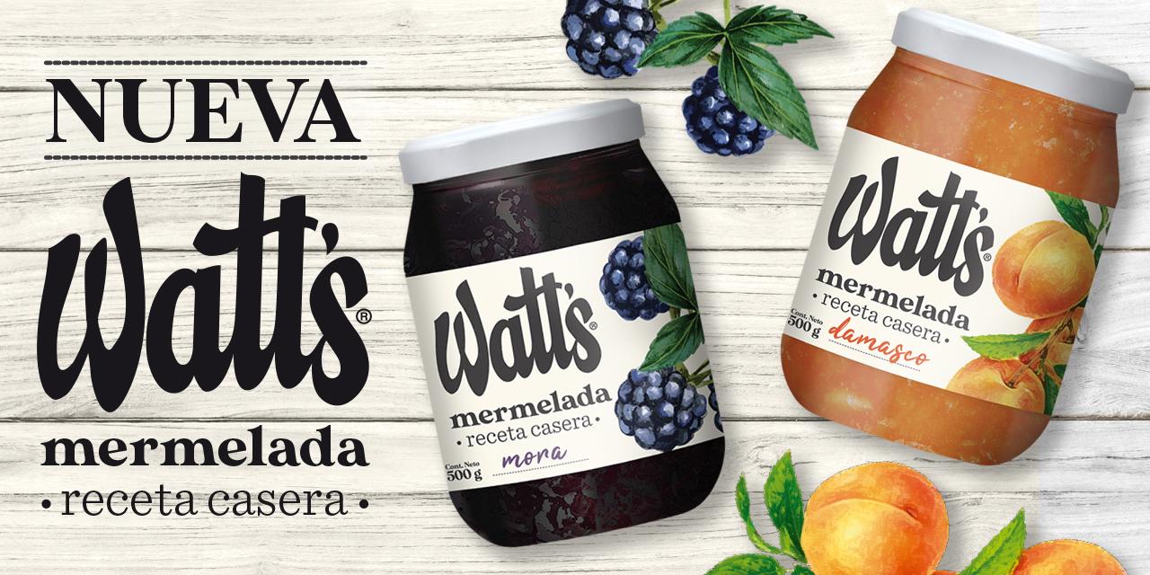 Prueba las nuevas mermeladas Watt's receta casera