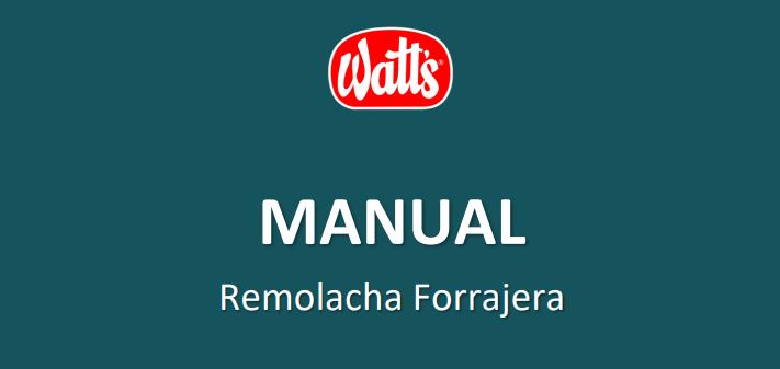 Watt's presenta el nuevo Manual de Remolacha Forrajera 2020